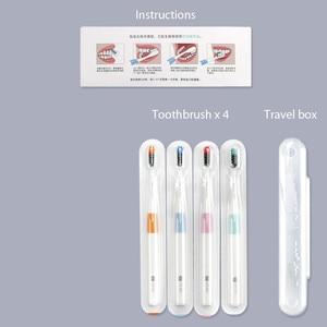 Image 5 - Youpin cepillo de dientes Doctor B, bajo, método, Sandwish bedded better Brush Wire, 4 colores, incluye 1 caja de viaje para casa inteligente