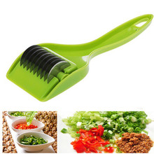 Novelty Kitchen Gadget Tools Rolling Multi Blade Vegetable Knife Spice Cutter Chinese Green Onion Shredder Scallion Herb Chopper