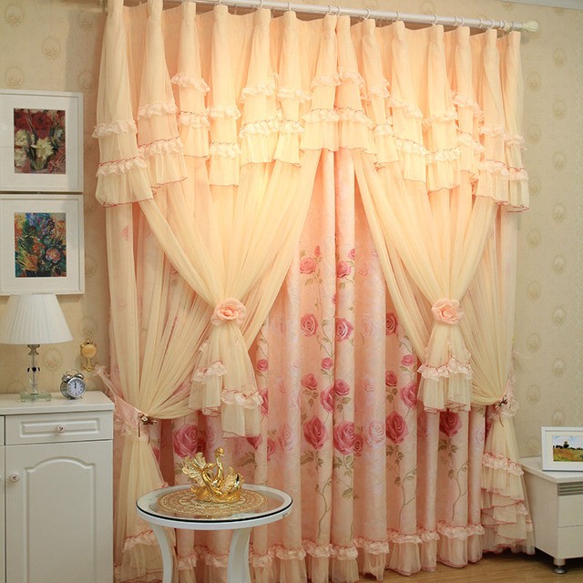 Luxury roman blinds the tulle Korean string the curtain shalian Lace ...