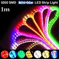 60 LED Multi-Color Super Bright 5050 SMD 1M Flexible LED Strip Home Party Holiday Decoration Light EB7100