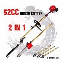 Новый 52cc длинный шест цепной триммер для живой изгороди кусторез машинки для стрижки волос молокосос Snipper секатор линия дерево с 3 продлить