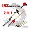 Новый 52cc длинный Reach Полюс цепной триммер для живой изгороди кусторез Виппер Snipper секатор линия дерева с 3 удлиненными полюсами садовые инст...