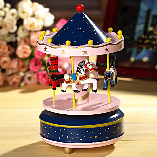 carousel music boxmerry go around christmas decoration wooden music box birthday gifts free shipping in music boxes from home garden on