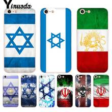Yinuoda National flag Iran Israel Phone Accessories Case for iPhone X 6 6s 7 7plus 8 8Plus XS XR XR11 11pro 11promax