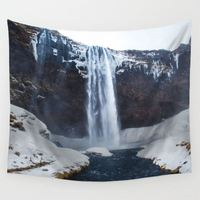 3D Iceberg Snow Scenic Tablecloth 150*130cm Haging Painting Rectangular Dinning Table Desk Cover Home Decor