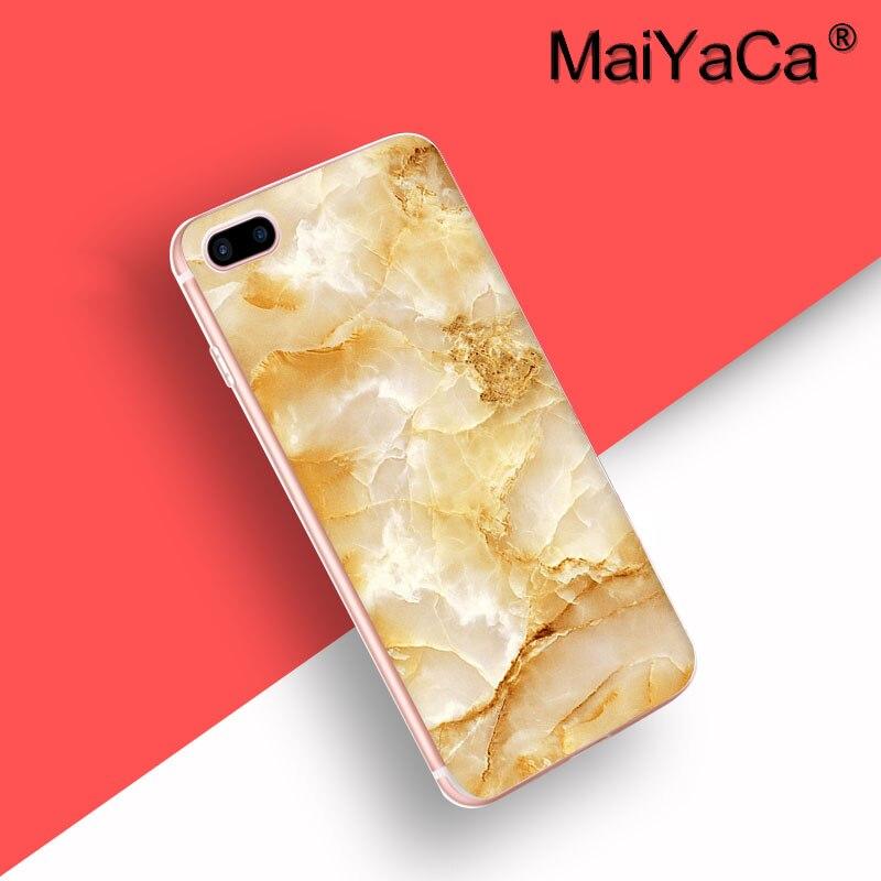 Laumans Новое поступление телефон Ультратонкий чехол для iPhone 6S плюс 6 Plus Черное золото Мрамор камень изображения окрашены дизайн