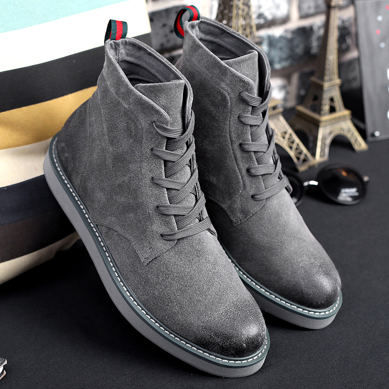 Boots Grey Casual Daily Work Shoes