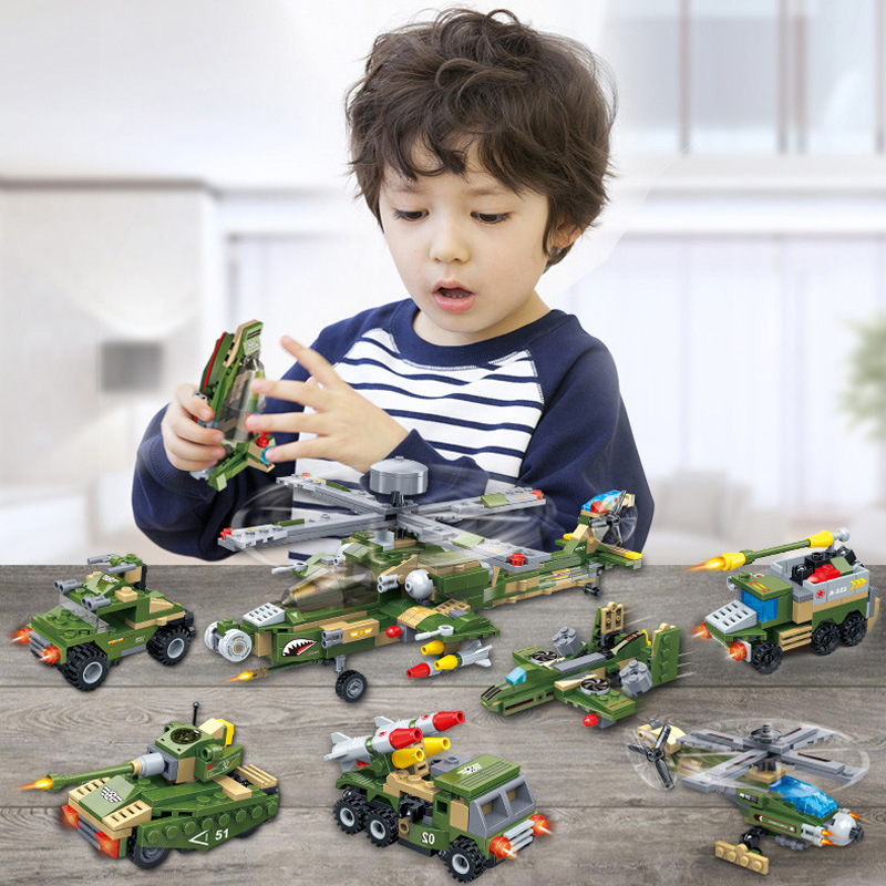 648pcs 8in1 Military WW2 Robot Helicopter Fighter Apache Attack Armor Boat Truck Tank Transformation Building Blocks Kids Toy648pcs 8in1 Military WW2 Robot Helicopter Fighter Apache Attack Armor Boat Truck Tank Transformation Building Blocks Kids Toy