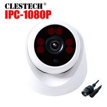 ONVIF HD IP Camera Hi3518E 1080P 2.8mm Lens Wide Angle Dome Indoor 3PCS ARRAY LED Nightvision IP Camera P2P Internal XMEYE APP ahwve diy wide view 2 8 12mm lens 1080p 2mp ip camera module board with ircut rj45 cable onvif h264 mobile app xmeye