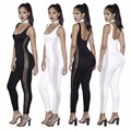 2017 Bodycon Women's Jumpsuits Tank Top Sleeveless Long Playsuits Rompers Women Jumpsuits Summer Fitness Ladies Bodysuit Catsuit