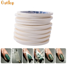 OutTop ColorWomen 1pc 17m * 0.5cm French Style Manicure Nail Art Tips Creative Nail Klisterband Tape Decor Drop Shipping F30 HW
