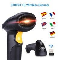 CT007X Portable Barcode Scanner Lecteur Code Barre Sans Fil 2.4G 10 m Laser Barcode Scanner Filaire Pour Windows CE Blueskysea 1800 mAH