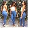 New Fashion denim Pants Plus Size Slim High Waist Casual Blue Women Pants 302A