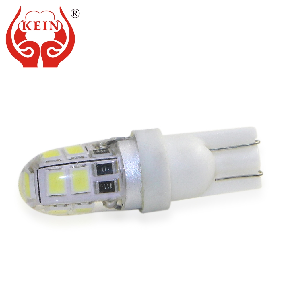 KEIN 1PCS T10 W5W LED NEW Silicone High Qualit 194 Car Bulb 2835 Side Wedge Pathway Lighting Interior Automotivo Signal Lamp 12V
