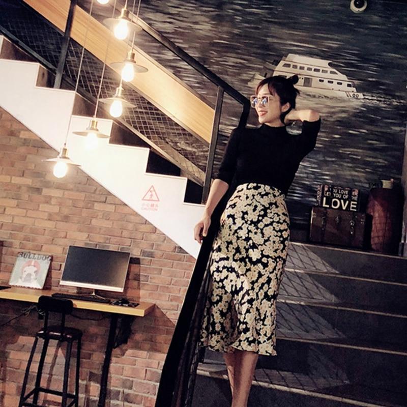 Summer 19 kawaii boho bodycon leopard print high waist skirts womens midi leopard skirt punk streetwear korean style 18