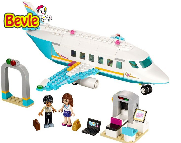 Bela 10545 Friends Heartlake Private Jet Olivia and Matthew Building Blocks Bricks Toy Compatible With Lepin