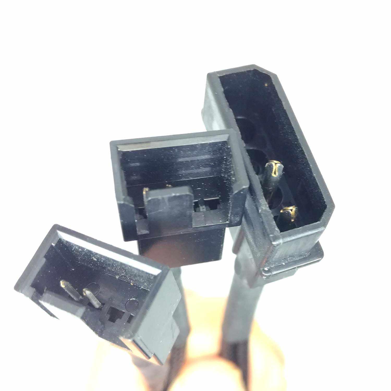 4Pin موليكس إلى 2x3/4pin مروحة Y الفاصل السلطة مهائي كابلات الكمبيوتر وحدة المعالجة المركزية نظام المشجعين gm