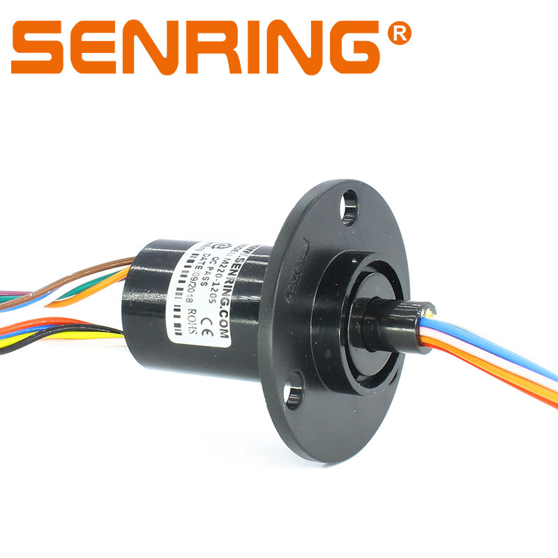 Mini Capsule Slip Ring Outer Diameter 22mm with 12 Circuits 5A Plastic Housing Low Torque Low