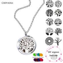 20MM 25MM 30MM Stainless Steel Diffuser Locket ,Magnetic Aromatherapy / Essential Oils Locket Necklace Jewelry(China)