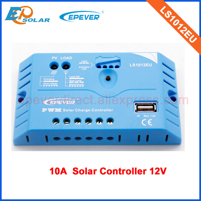 EPEVER solar charger controller 10A PWM 12v work built in USB terminal output LS1012EU