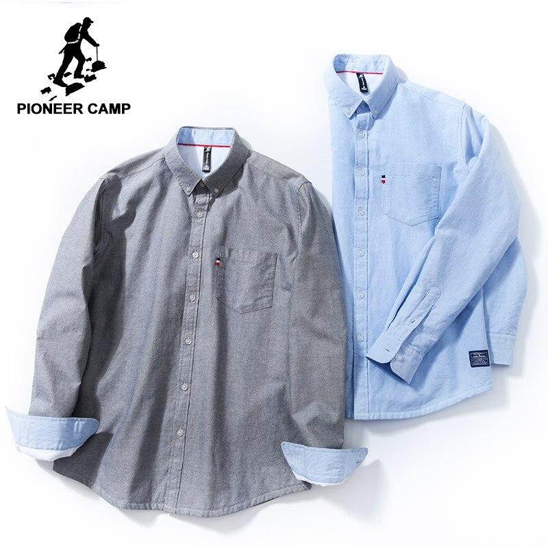 Zielsetzung Pioneer Camp Neue Winter Fleece Casual Hemd Männlich Marke Kleidung Solide Klassische Warme Lange Hülse Hemd Männlichen 100% Baumwolle Acc801498 Reich Und PräChtig Legere Hemden