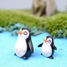 2 шт./лот мини животных смолы пингвин 1-2 см фея садовый декор ремесла домашнего декора DIY Миниатюрный Животных Миниатюрные сад