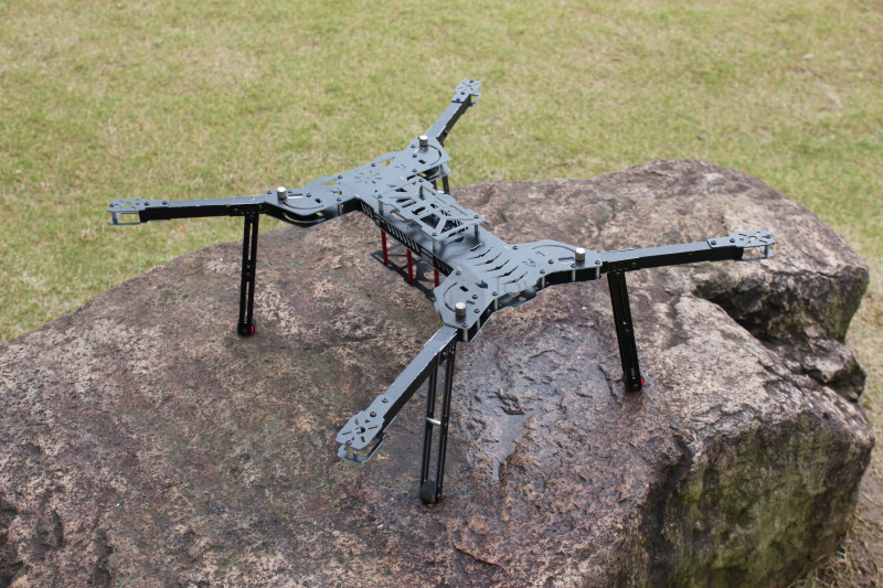 DIY FPV Allen H4 680 quadcopter folding frame with landing gear Glass fiber and Aluminum alloy Square wing arm design diy drone kit 25mm carbon tube cnc aluminum alloy folding machine arm member quadcopter frame professional folding arm kit