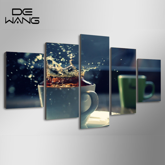 5 Panels Framed Canvas Pictures Prints Modern Kitchen Wall Art ...