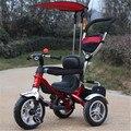 Los niños en bicicleta de tres ruedas de cuatro y el 1-3-5-año-viejo carro bebé bicicleta cochecito