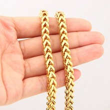 6MM New Sale Trendy 316L Stainless Steel Charming Gold Color Lobster Buckle Figaro Wheat Link Chain Men's Women's Necklace 23.6