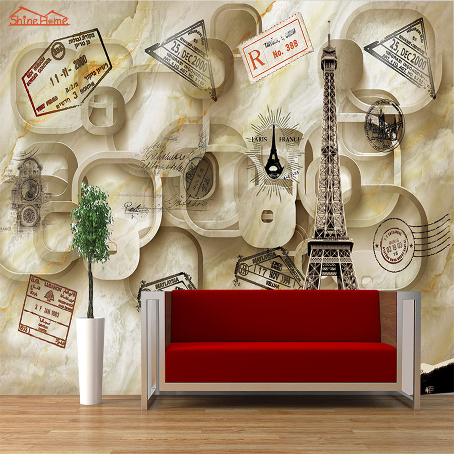 Red Brick War Shelling Scenes Vintage 3D Kids Room Wall Paper Prints Photo Wallpaper for 3d Room Wall Livingroom Mural Rolls shinehome abstract brick black white polygons background wallpapers rolls 3 d wallpaper for livingroom walls 3d room paper roll