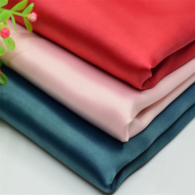 Търговия на едро Polyester Spandex Elastic Stretch Dull Satin Fabric за рокля