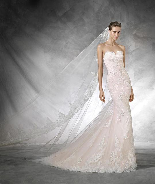 top quality vestidos de novia sirena strapless bride gown low cut