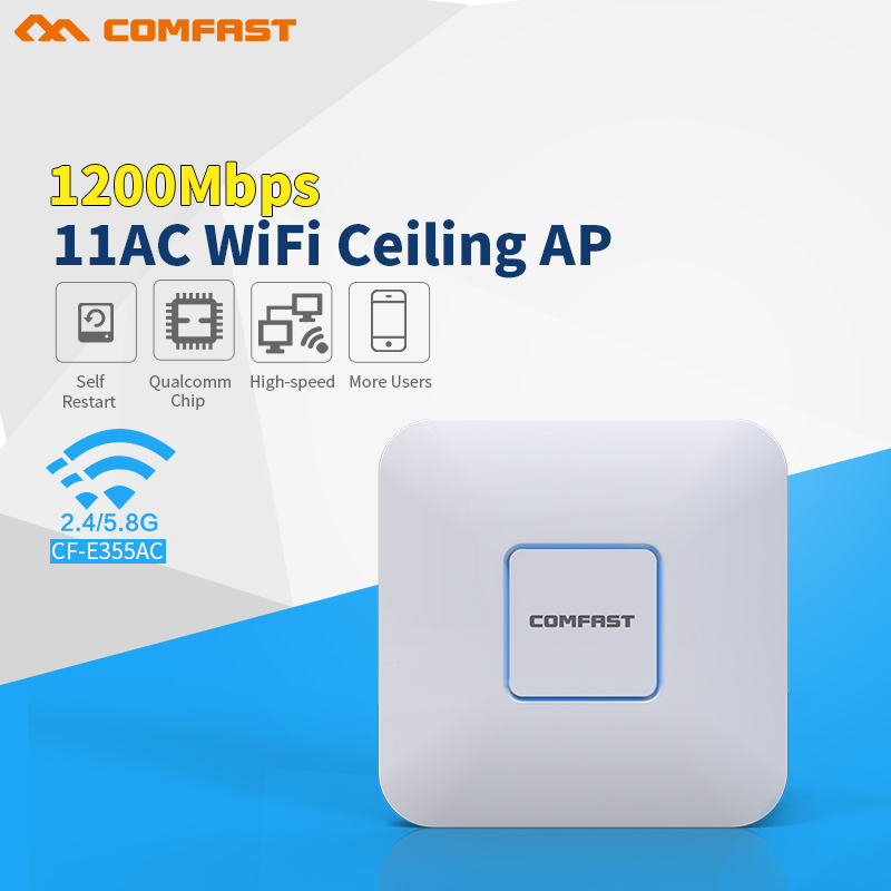 все цены на COMFAST 1200Mbps wireless Ceiling AP 2.4G+5G 802.11AC WiFi Access Point AP router support openwrt for big area wifi coverage онлайн
