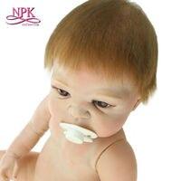50 cm Novo Design Silicone Renascer Baby Dolls Nu Boneca, Bonecas De Silicone Renascer Bebês Recém-nascidos Brinquedos de Banho para Crianças Boneca de banho