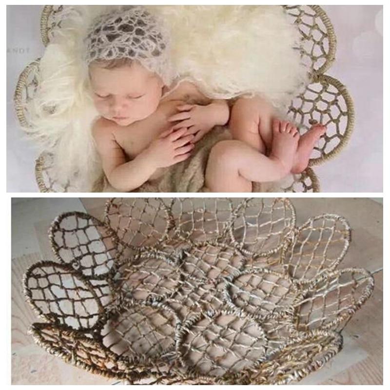 Newborn Photography Props Iron Weaving Basket Frame Fotografia Accessories  Baby Toddler Studio Shooting New Born Photo Props