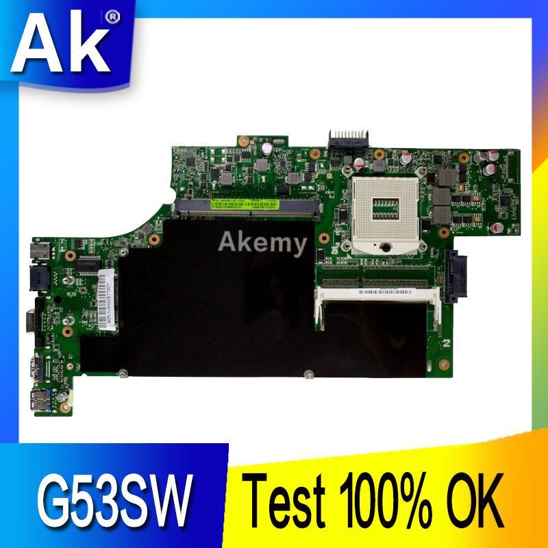 AK G53SW 4 slots Laptop motherboard for ASUS G53SW G53SX G53S G53 VX7 VX7S Test original