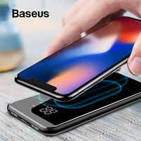 Baseus Wireless Power Bank 8000mah Portable External Battery Bank Mobile Phone Charger LCD Display Powerbank For Samsung S9 S8