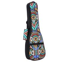 Сумка с двойным ремешком для переноски укулеле в народном стиле, чехол с хлопковой подкладкой для укулеле, аксессуары для гитар, синие графф...
