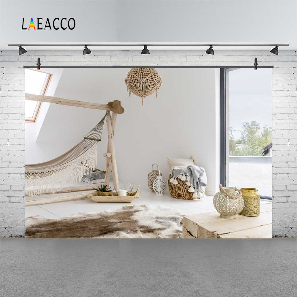 Laeacco interior hammock window photography backgrounds digital customized photographic backdrops props for photo studio