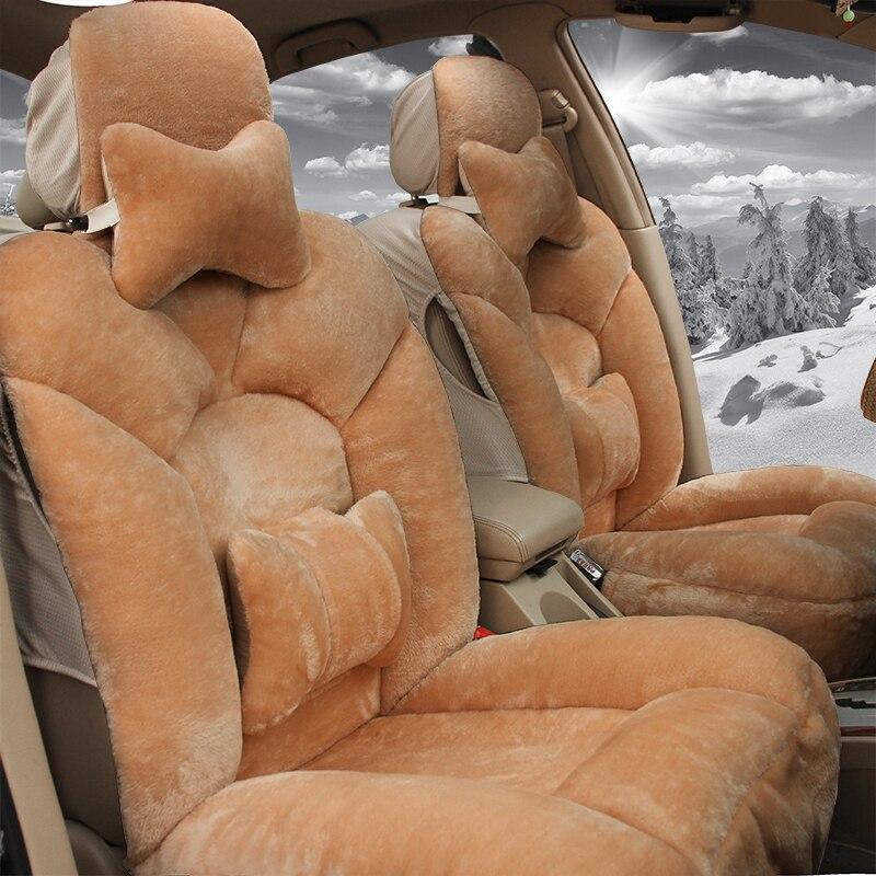 Auto automobiles couverture de siège de voiture en peluche pour benz mercedes w110 w114 w115 w123 t123 w124 t124 w210 c e classe w164 voiture