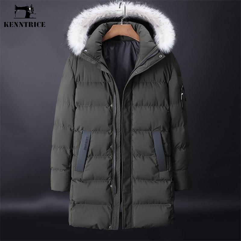 KENNTRICE más tamaño abrigo 9XL nuevos abrigos largos de invierno para hombre Parkas Casual a prueba de viento de algodón con capucha chaqueta de invierno para hombre ropa de abrigo-in Parkas from Ropa de hombre    3