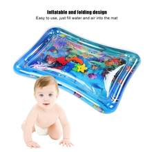 Inflatable Water Mat Baby Inflatable Water Pad Soft Play Mat water Cushion Water Play Floor Mat Swimming Pool Air Mattress(China)