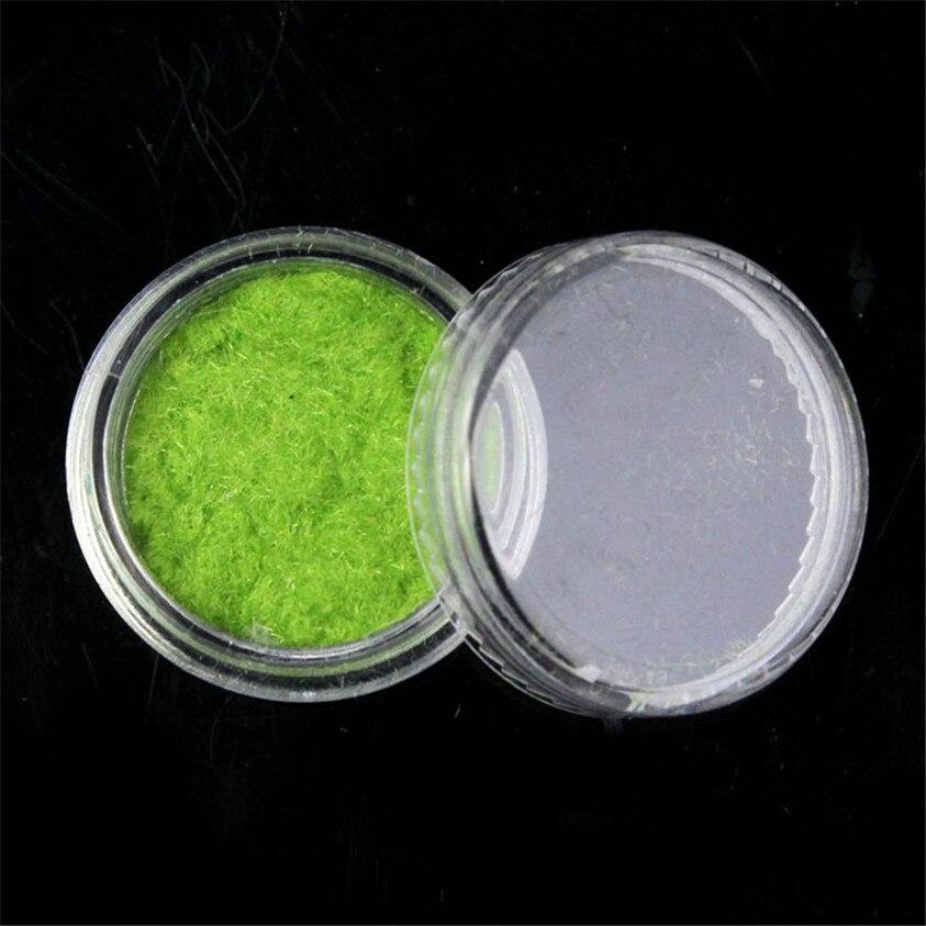 Nueva 12 color de terciopelo flocado Polvos de maquillaje manicura ...
