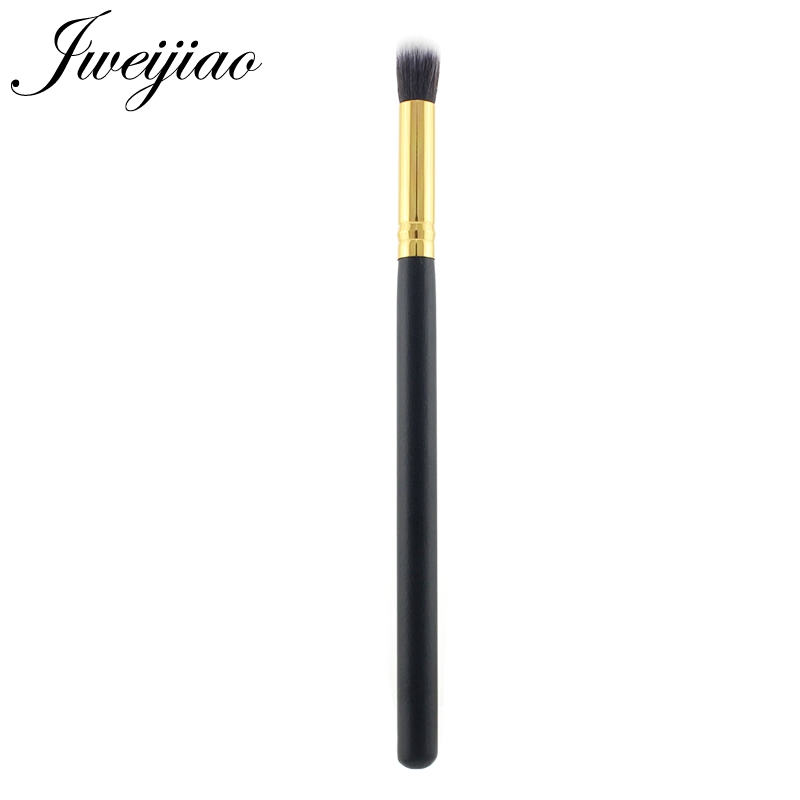 JWEIJIAO High Quality Eyeshadow Brush Professional Single Makeup Brush Golden Metal and wooden Handle Cosmetic Beauty Tools(China)