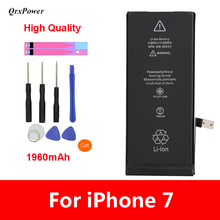 QrxPower High Quality Replacement Li-ion Battery Real Capacity 1960mAh With Tools for iphone 7 0 Cycle 1 year warranty new for 5207 32p0765 32p0766 146g 10k fc ds4300 1 year warranty