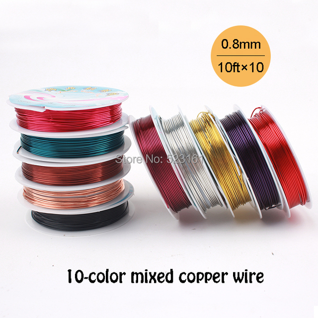10 pcs 20 gauge 08mm jewelry supplies copper wire 10 color mixed 10 pcs 20 gauge 08mm jewelry supplies copper wire 10 color mixed total 30m keyboard keysfo Image collections