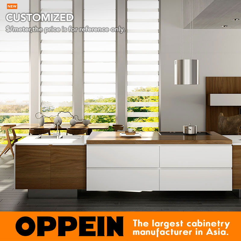 Modern Style Wood Grain Kitchen Cabinet With Simple Designs Kitchen Furniture Op16 Pvc02
