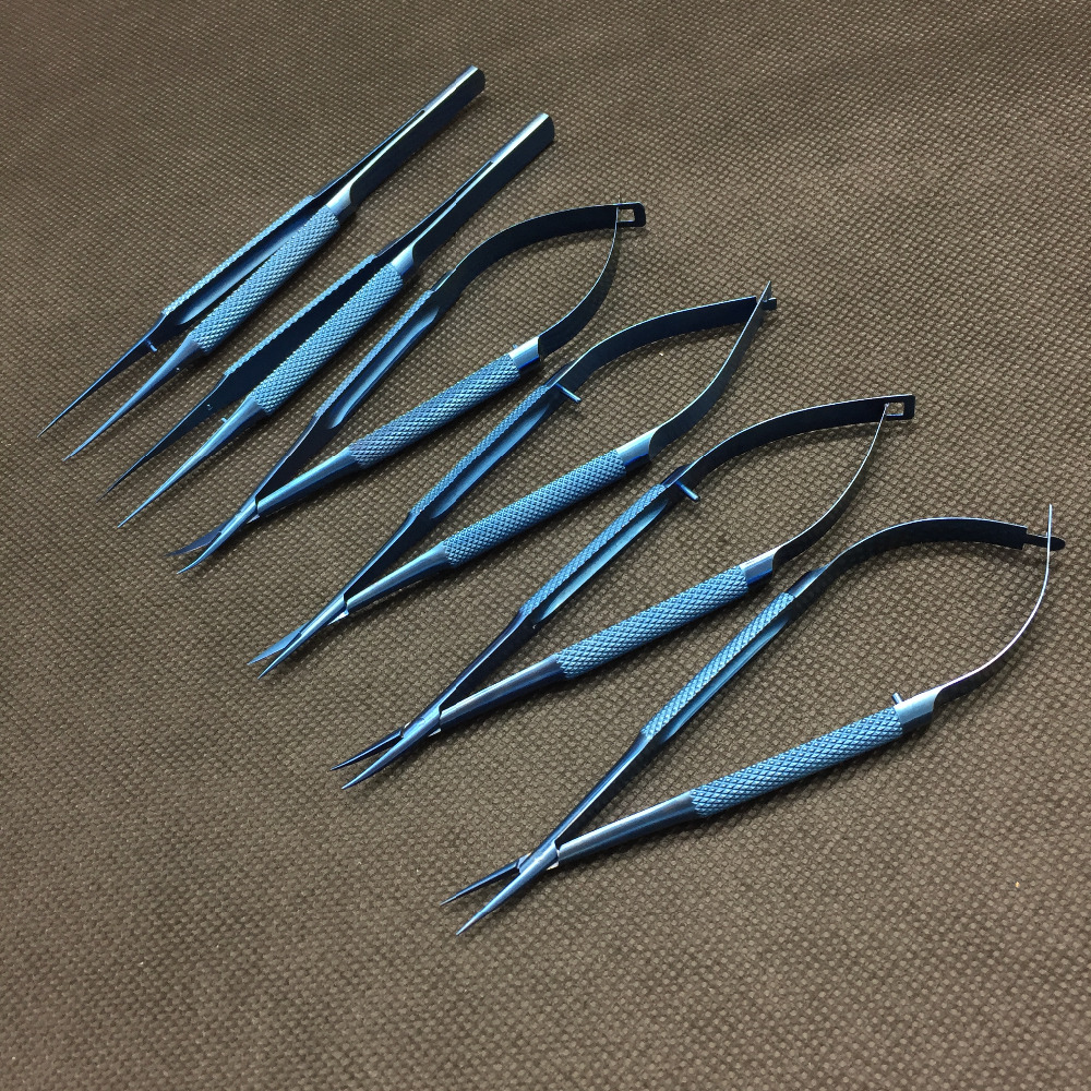 3kits (6pcs/kit) 14cm titanium scissors needle holder forceps microsurgical instruments 3kits (6pcs/kit) 14cm titanium scissors needle holder forceps microsurgical instruments