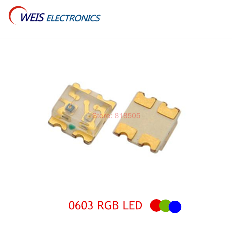100PCS 1615 SMD LED RGB Red+green+blue 1.6*1.5mm Full Color LEDs Common Cathode / Common Anode 0603 1.8-2.0v 20mA Dropshipping